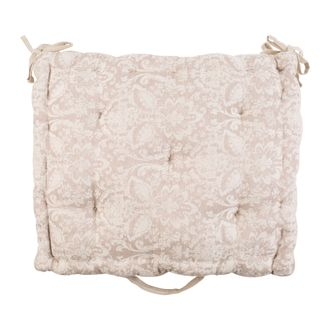 200557 BOX CUSHION SOLENE BEIGE 51.5X44XH10 COTTON+LINEN