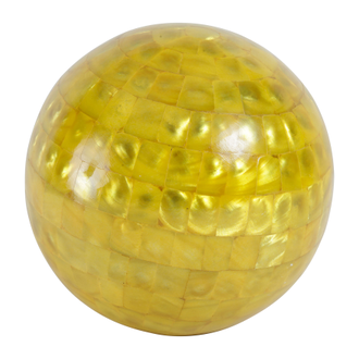 Шары декоративные DECORATIVE BALLS X3 OSTIA BROWN+YELLOW D15CM SHELLарт.31790