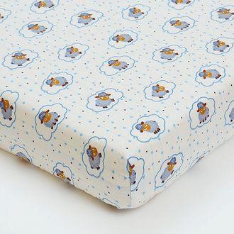 Простынь на резинке для новорожденных shapito by giovanni ОВЕЧКИ белый