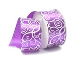 Лента атласная с УЗОРОМ 4 см, цвет №083