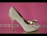 Распродажа свадебные туфли текстиль открытый мыс на скрытой платформе украшены бантикоми пряжкой стразы серебро средний каблук шпилька № 939
