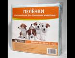 Пеленки впитывающие для собак ГлавХвост 60*60 см, 5 шт