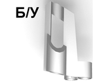 ! Б/У - Technic, Panel Fairing # 5 Small Short, Large Hole, Side A, Metallic Silver (32527 / 4144144) - Б/У