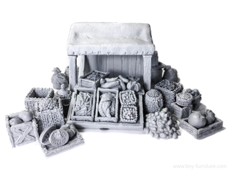 Merchant Stall with food (unpainted)