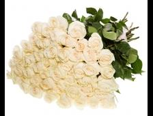 47 роз букет Натурально белый