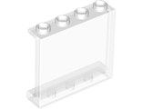Panel 1 x 4 x 3 with Side Supports - Hollow Studs, Trans-Clear (60581 / 4594686 / 6245269)
