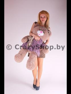 """Плюшевая медведица """"Джулия"""" шоколадного цвета 110 см."""