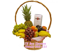 Подарочная корзина ассорти фрукты и шампанское
