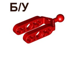 ! Б/У - Technic, Steering Knuckle Arm with Ball Joint  Towball , Red (6572 / 4161882) - Б/У
