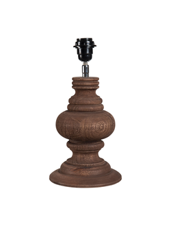 Настольная лампа LAMP BASE BAROQUIE BROWN D18XH26CM MANGO WOODарт.32138