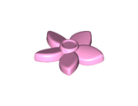 Friends Accessories Hair Decoration, Flower with Pointed Petals and Pin, Bright Pink (18853 / 6096990)