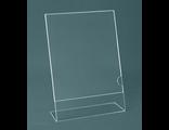 Подставка под меню, менюхолдер, тейбл тент односторонний, держатель меню из оргстекла