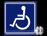 """Наклейка на авто """"Инвалид за рулем"""" синего цвета по евростандарту. Знак Инвалид в машине на стекло."""