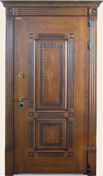 дубовые стальные входные двери