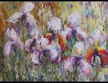 "Круглова Светлана. ""Прохладные ирисы"",  холст / масло,  30 х 40 см.,  2015 г."
