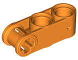 Technic, Axle and Pin Connector Perpendicular 3L with 2 Pin Holes, Orange (42003 / 6259824)