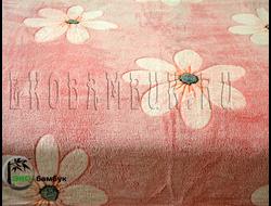 Плед из бамбука Soft Line Евро Цветочки брусничные