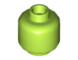 Minifig, Head (Plain) - Stud Recessed, Lime (3626c / 4614249)