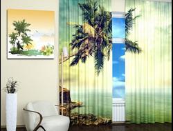 Дизайнерские фотошторы: Пальма