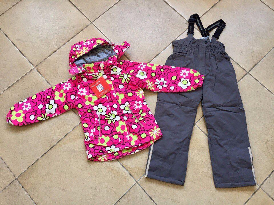 Ярко-розовый весенний комплект для девочки