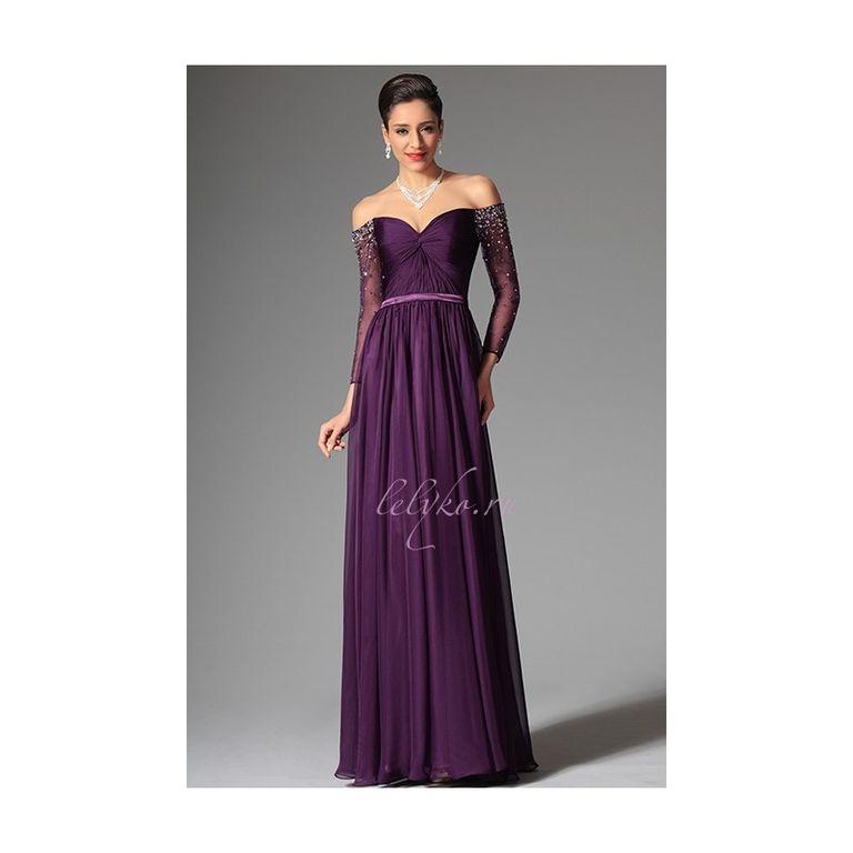платья в пол фото с открытыми плечами
