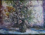 """Круглова Светлана. """"Полевые ромашки"""",  холст / масло,  45 х 60 см.,  2015 г."""