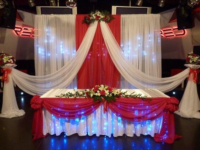 Украшение свадеб тканями фото