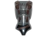 Large Figure Torso Female with SW Dark Brown West Pattern Jyn Erso, Dark Bluish Gray (26481pb01 / 6163451)