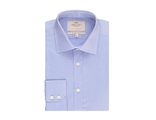 Рубашка Hawes & Curtis Men's Formal Blue Slim Fit Shirt - Single Cuff - Easy Iron