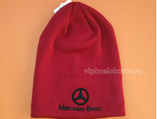 Шапка с логотипом авто MERCEDES red