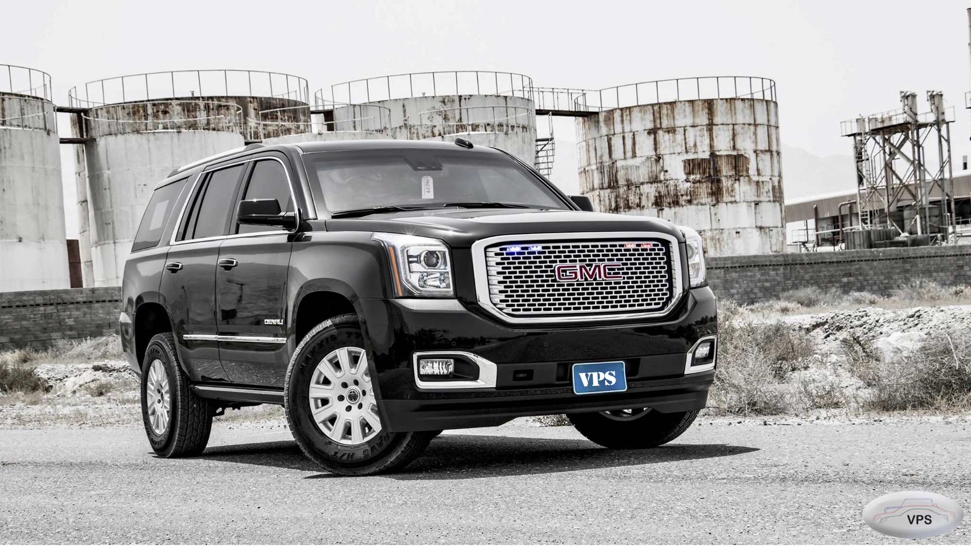 Various premium class armored full-size SUVs based on GMC Yukon Denali and XL 4WD in CEN B6 and B7, 2020-2021YP