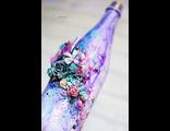 Декоративная бутылка в технике микс-медиа от Светланы Лисицыной
