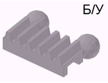! Б/У - Technic, Gear Rack 1 x 2 with Ball Joints, Light Bluish Gray (6574 / 6574194) - Б/У