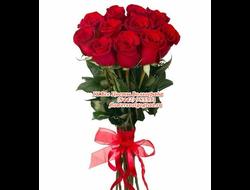 11 роз красных букет Презент на день рождения