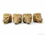 STONE ANIMAL HEADS (PAINTED) special offer