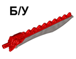 ! Б/У - Hero Factory Weapon - Saw with Flat Silver Sword Blade, Red (98568pb02 / 4657296) - Б/У