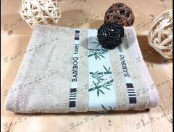 Бамбуковое полотенце спорт класс 48х98 Bamboo бежевый