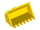 Vehicle, Digger Bucket 7 Teeth 3 x 6 with Locking 2 Finger Hinge, Yellow (30394 / 4140709 / 6117931)