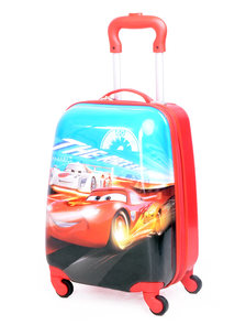 Детский чемодан на 4 колесах - Тачки МакВин / The Cars McQueen «Disney» - красный