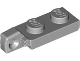 Hinge Plate 1 x 2 Locking with 1 Finger On End without Bottom Groove, Light Bluish Gray (44301b / 4211803)