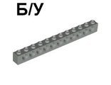 ! Б/У - Technic, Brick 1 x 12 with Holes, Light Gray (3895 / 4195006) - Б/У