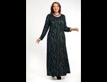 Шикарное нарядное платье Василиса Арт. 1755-057 (Цвет черный волна синяя)  Размеры 58-80