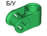 ! Б/У - Technic, Axle and Pin Connector Perpendicular, Green (6536 / 4107766 / 4173665 / 4281196) - Б/У