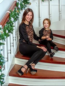 """Свитшоты для мамы и дочки """"Лео"""""""