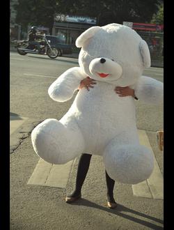 Белоснежный плюшевый мишка Наум (150 см)