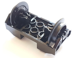 Train Wheel RC Train, Holder with Pin Slots with 2 Black Train Wheel RC Train with Pins 38339 / 38340, Black (38339c01)