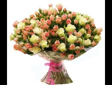 Букет Ассорти из кустовой розы