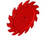 Technic, Circular Saw Blade 9 x 9 with Pin Hole and Teeth in Same Direction, Red (61403 / 6153225)