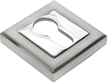 Накладка на ключевой цилиндр RUCETTI RAP KH-S SN/CP Цвет Белый никель/хром