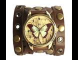 наручные часы с широким браслетом бабочка коричневая фото
